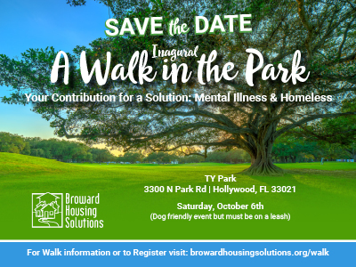 Inaugural A Walk in the Park - Oct. 6, 2018